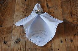 Personalizowana szatka do chrztu z kwiatem