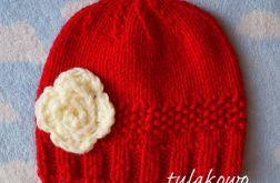 Zimowa czapka romantic czerwień