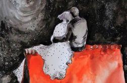 """Akwarela """"NA DACHU"""" artystki A.Laube"""