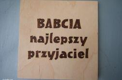 drewniany obrazek na Dzień Babci