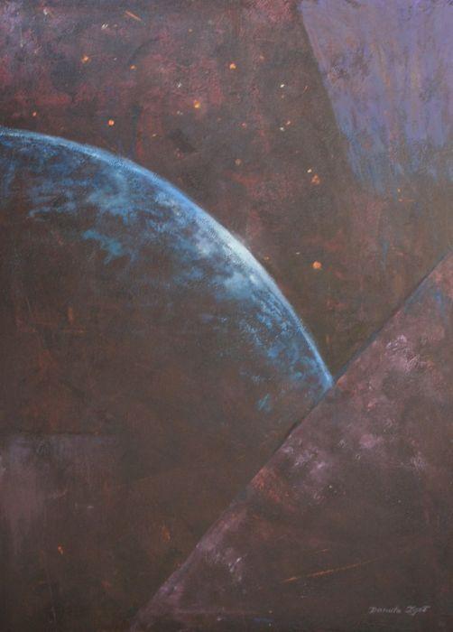 Czwarty wymiar - olej na płótnie - Obraz olejny abstrakcja