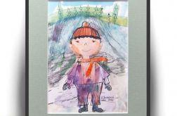 Chłopczyk w czapeczce, ilustracja dla dzieci