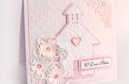 Kartka ślubna z kościołem