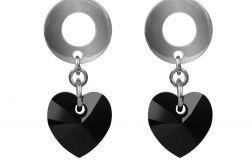Kryształowe czarne serca