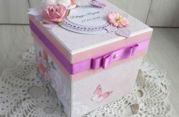 Exploding box ślubny pudrowy róż