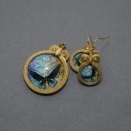 komplet biżuterii sutasz - motyl
