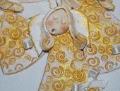 Złoty anielski chór - aniołki, ozdoba, prezenty dla gości