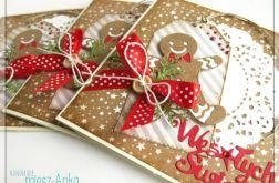 Kartka świąteczna z piernikowym ludkiem 2