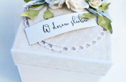Exploding box na ślub piękny, elegancki