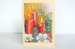 Kartka świąteczna ze świecami 5