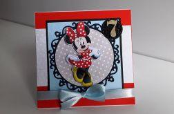 Kartka na Urodziny Myszka Minnie