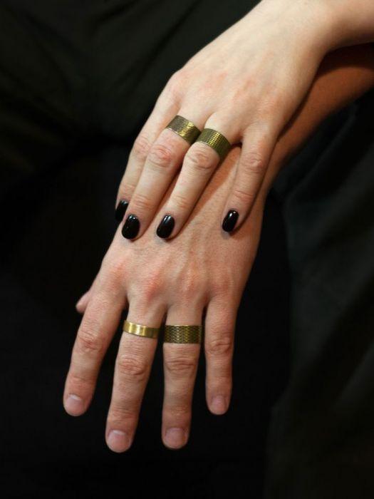 Gładka - mosiężna obrączka 191028-02 - mosiężne pierścionki