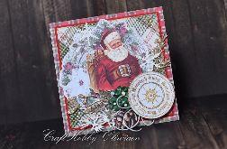 Wesołych Świąt - św. Mikołaj w stylu vintage