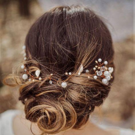 Ozdoba ślubna do włosów opaska DAYLA