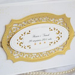 Ażurowe zaproszenie na ślub
