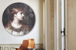 Ofelia - Obraz na okrągłej ramie