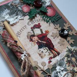 Kartka świąteczna, rustykalna 2