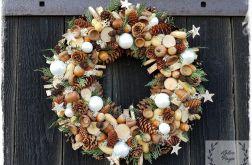 Wianek Bożonarodzeniowy w bieli naturalny