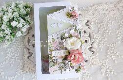 Ślubna kartka kaskadowa w pudełku 335