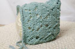 miętowa czapeczka z bawełny