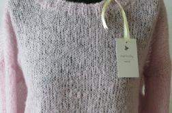 """Sweter """" Różowa Chmurka """" z alpaki.."""