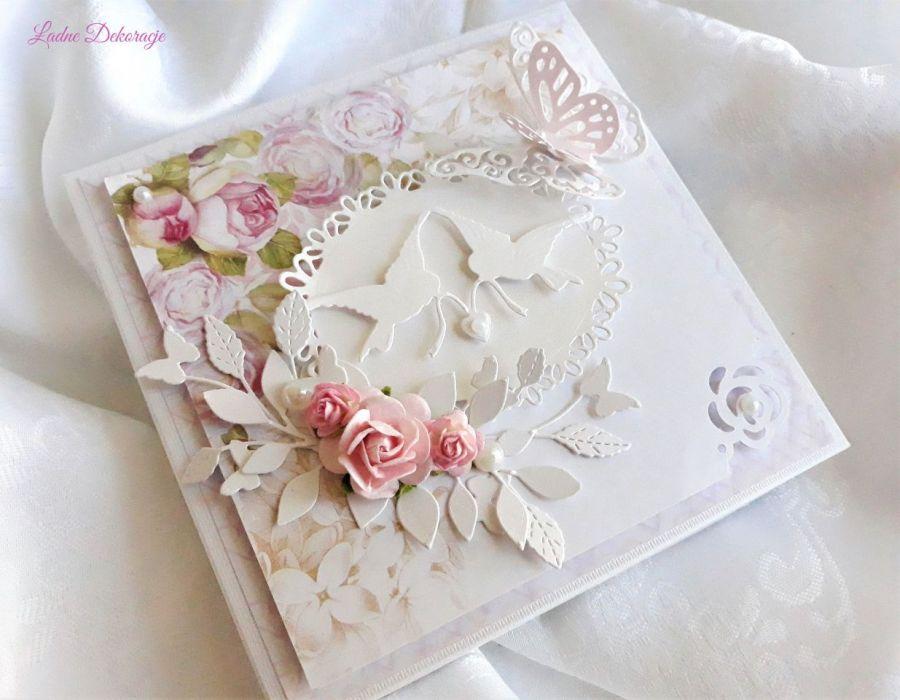 Pamiątka ślubna Białe gołąbki - null