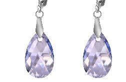 Kolczyki z kryształami Swarovskiego - błękit
