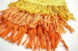 top żółto-pomarańczowy z frędzlami