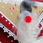 Kartka świąteczna, bożonarodzeniowa,MIKOŁAJ 3 - detal