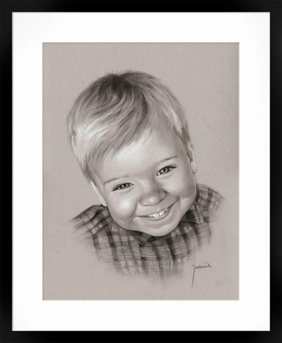 Portret chłopca ze zdjęcia na zamówienie