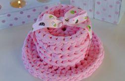 CROCHET Pudrowe różowe podkładki pod kubki