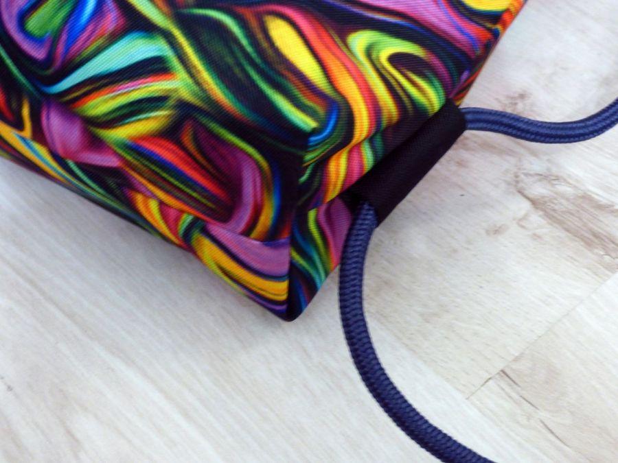 Worek/plecak Workoplecak  Abstrakcja różowa