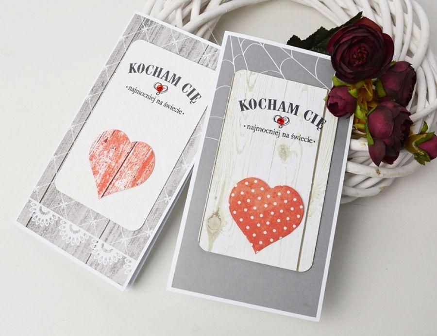Walentynka z czerwonym sercem