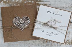 Oryginalna kartka ślubna i pudełko rt4