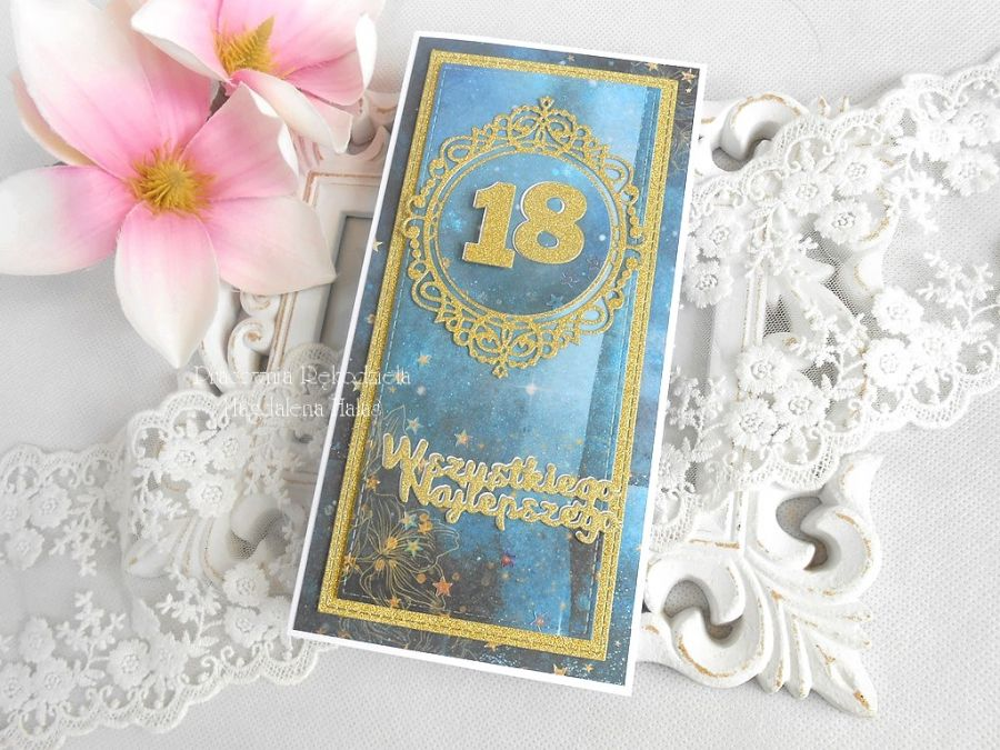 Kartka na 18 urodziny w pudełku 27 -