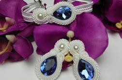 Biżuteria ślubna kryształki soutache sutasz