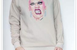 Ręcznie malowana bluza Drag Queen S. Velour