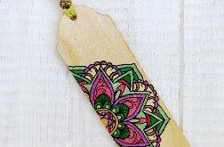 Drewniana zakładka z mandalą seria color v2