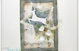 Kartka świąteczna z reniferem 4