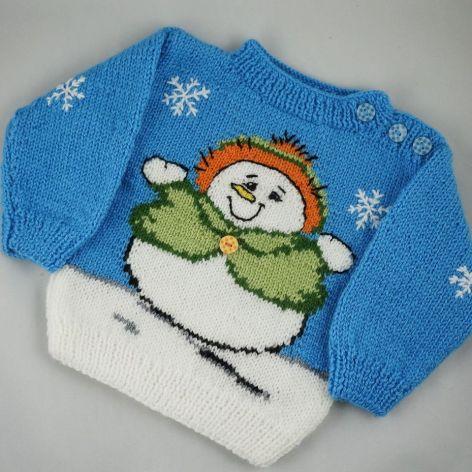 sweterek z bałwankiem