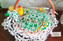 Wielkanocna serweta na koszyczek frywolitka