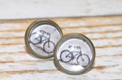 Kolczyki rowerowe-glass earrings