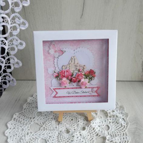 Kartka ślubna 3D Coral Romance 1