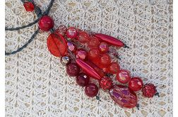 4979 długi naszyjnik czerwony