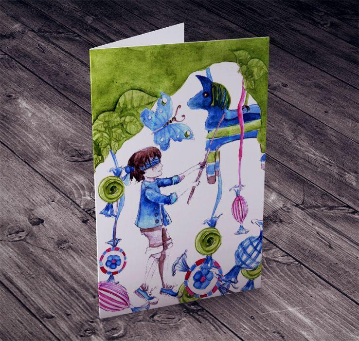 Piniata... karteczka na życzenia