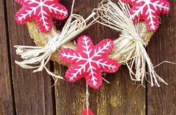 Świąteczny wianek na drzwi Śnieżynki