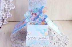 Kartka popup Sweet Moments 2 urodziny GOTOWA