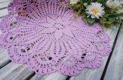 Serweta szydełkowana okrągła 30 cm fioletowa