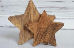 Komplet gwiazd drewnianych