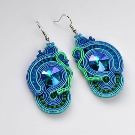 Kolczyki niebiesko-turkusowe